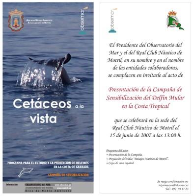 PRESENTACION CAMPAÑA DELFIN MULAR EN EL CLUB NAUTICO DE MOTRIL EL DÍA 15/JUNIO/2007 13:00 H.