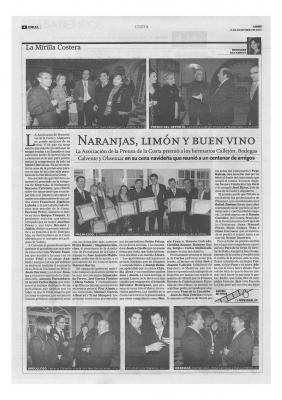 PREMIO DE LA PRENSA 2008: UN RECONOCIMIENTO A NUESTRA LABOR