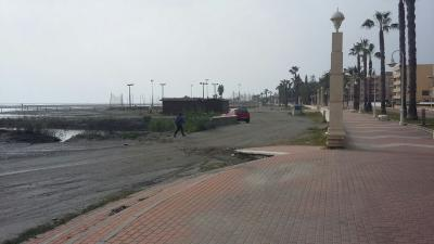 Episodio de anegación de la playa de poniente de Motril (Granada). 20 febrero 2017